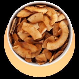 Kokoschips mit Kokosnektar
